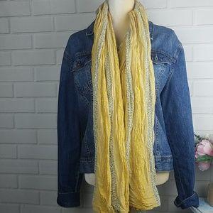 Free People hobo Carnival Fringe yellow scarf